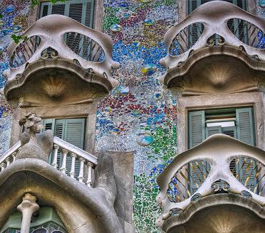 Casa Batlló in Barcelona by Antoni Gaudí